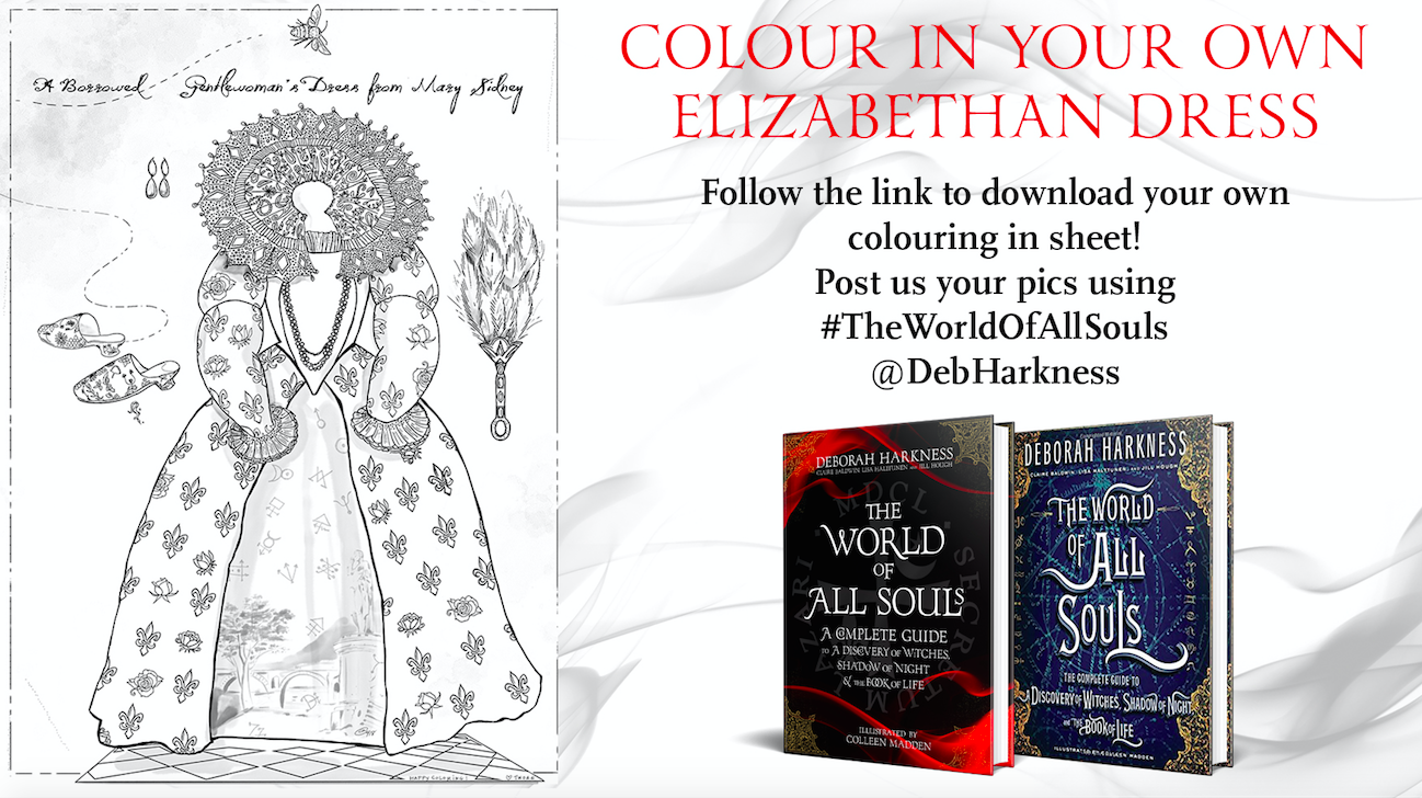 Coloring Page Mary Sidney S Dress From The World Of All Souls Deborah Harkness