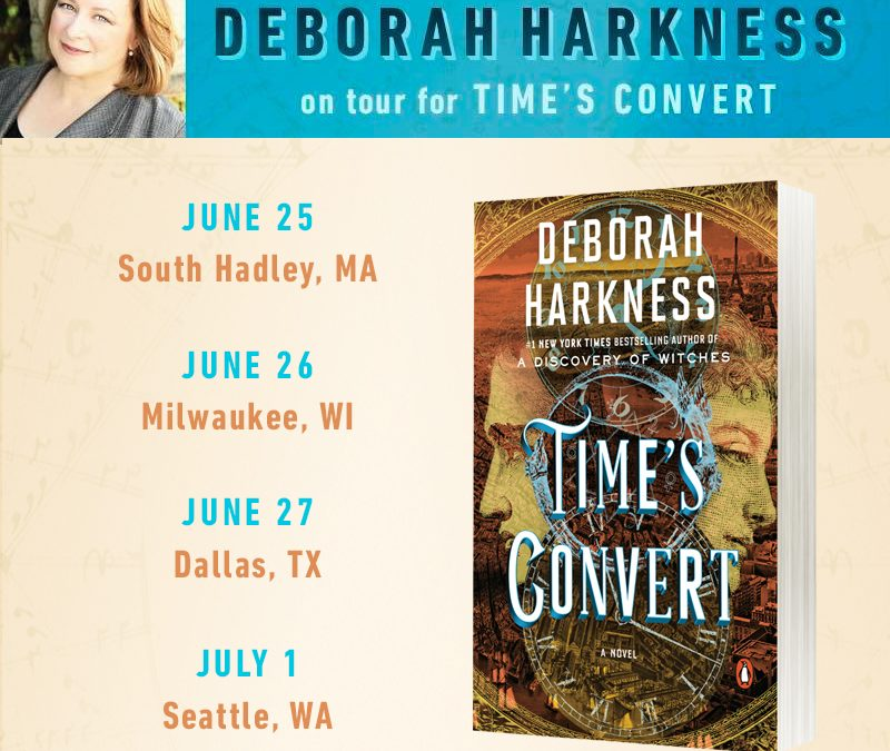 Save the Date!  It's the US paperback book tour for Time's Convert!
