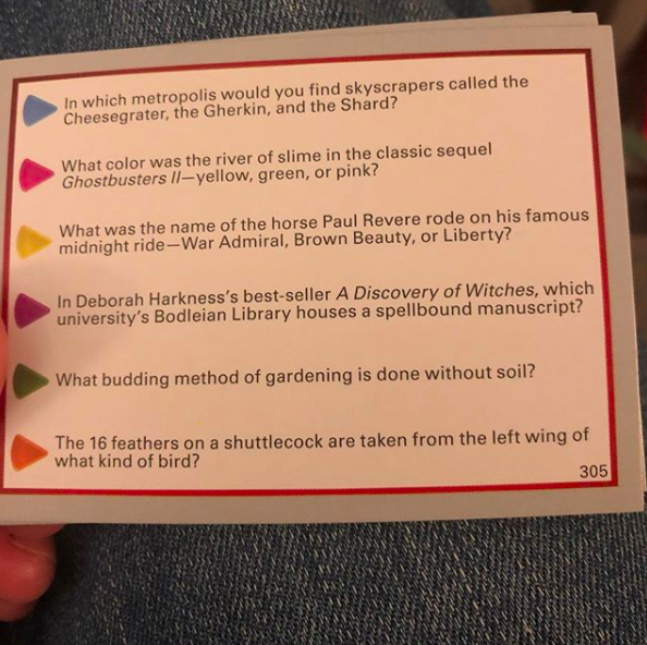 When you make Trivial Pursuit …