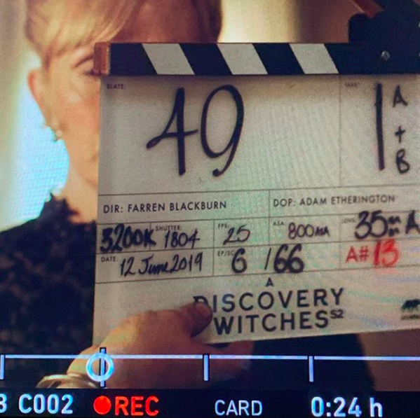 Wishing the cast and crew of @adiscoveryofwitchestv the very best…